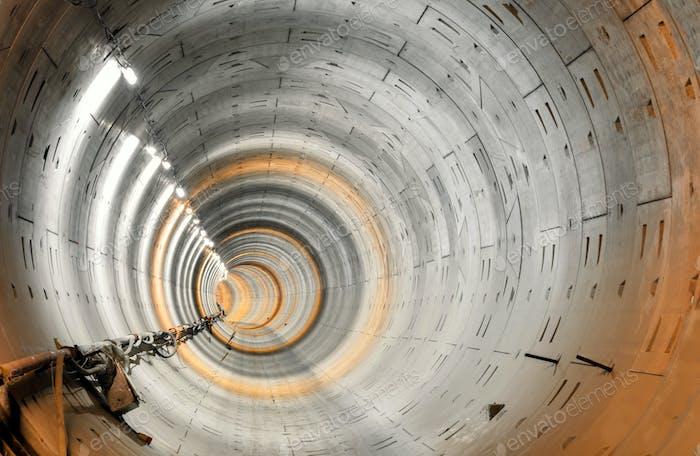 Bau U-Bahn-Tunnel ohne Schienen