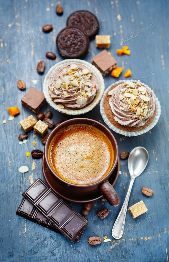 Espresso mit Schokolade