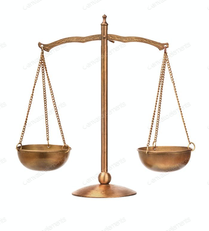 Old balance scale