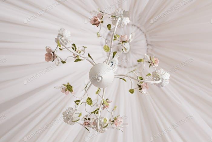 Vintage white chandelier