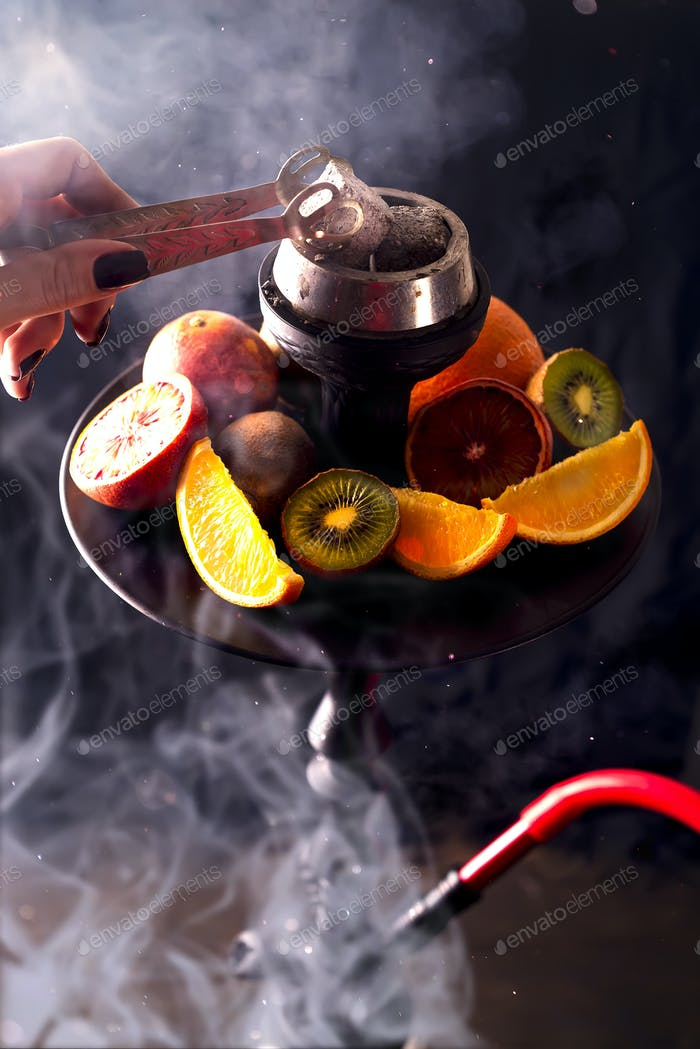 Hookah hot coals for smoking shisha and leisure