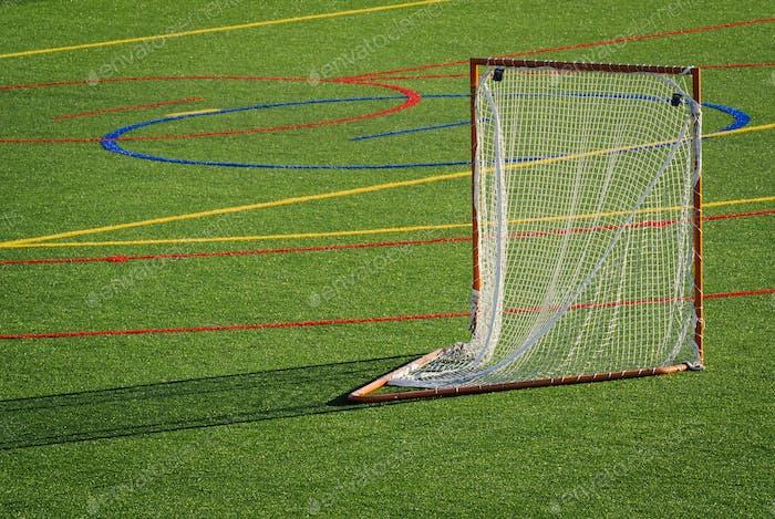 Goal on lacrosse field