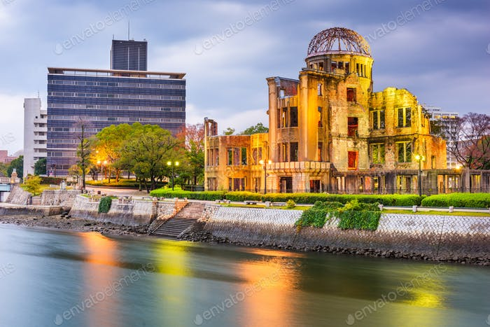 Hiroshima, Japan skyline and Atomic Dome