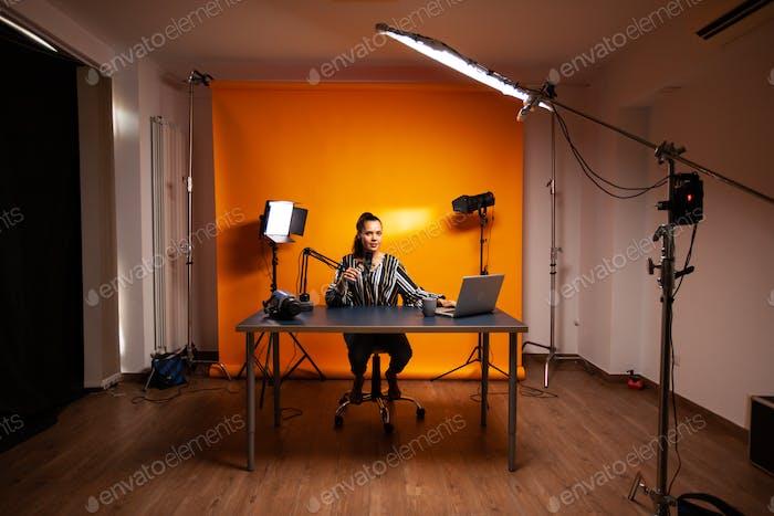 Filming new vlog