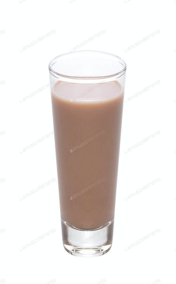 Chocolate milk isolated