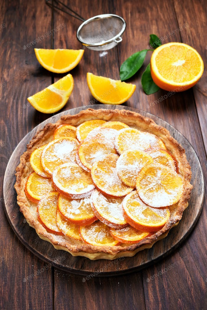 Fruit orange pie