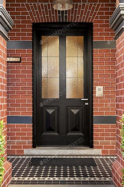 Red brick front door