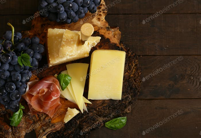 Cheeseboard on a Wooden Table