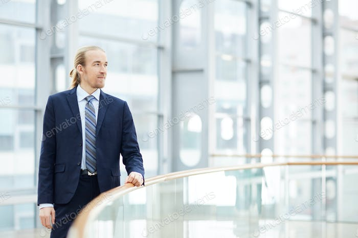 Strong-willed young businessman