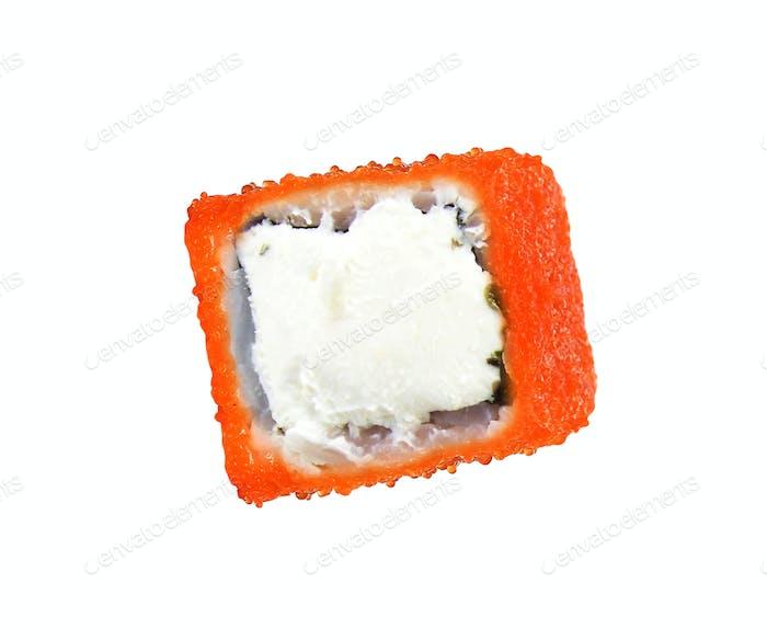 Sushi-Rollen isoliert auf weiß