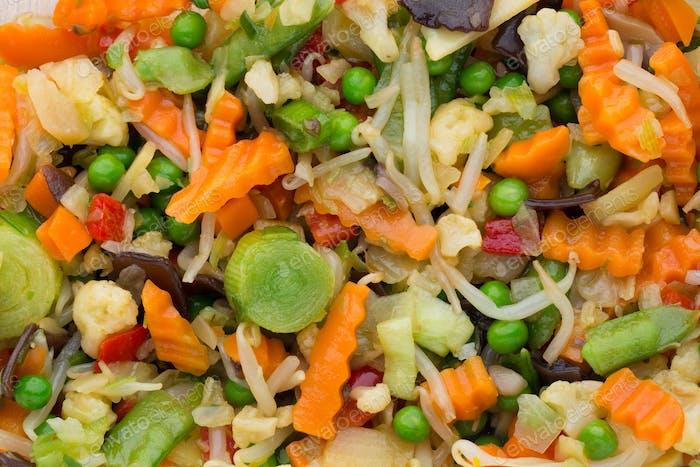 Frisches gefrorenes Gemüse eco food, natur.