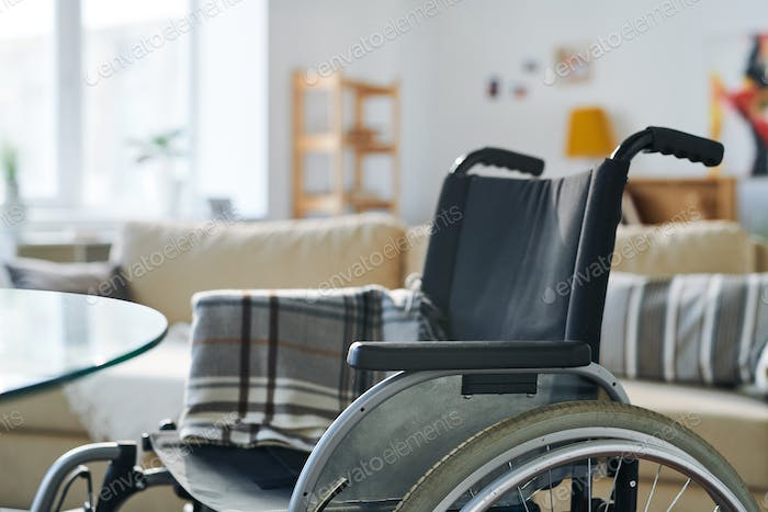 Wheelchair in living-room