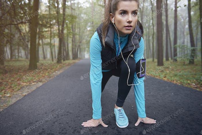 I love my morning running