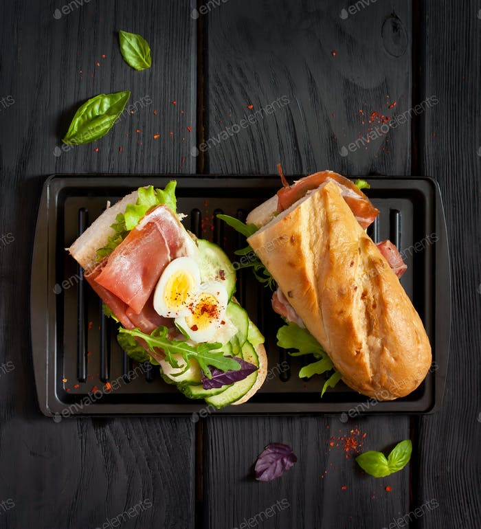 Delicious homemade sandwich.
