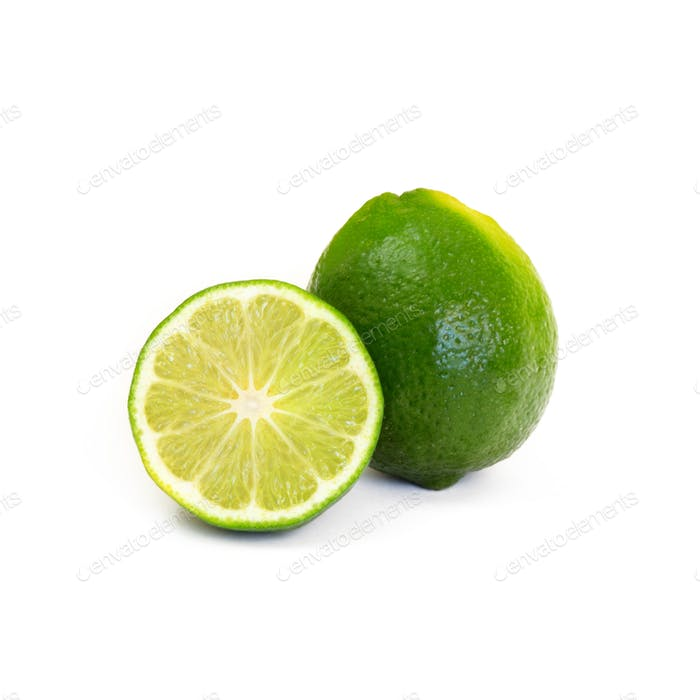 Limes cut and whole