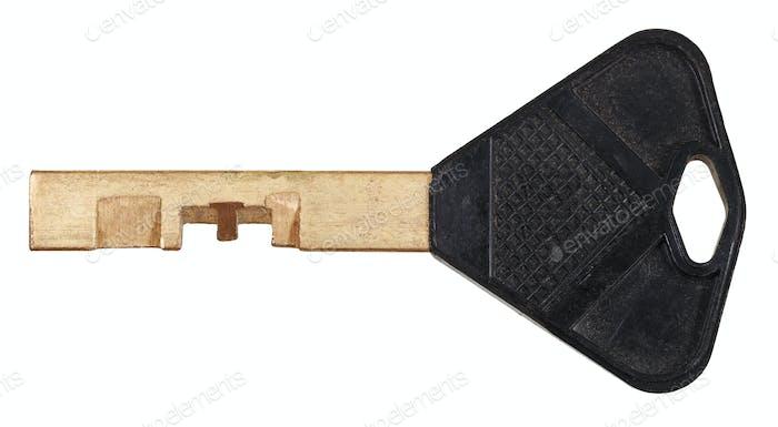brass door key for disc tumbler lock