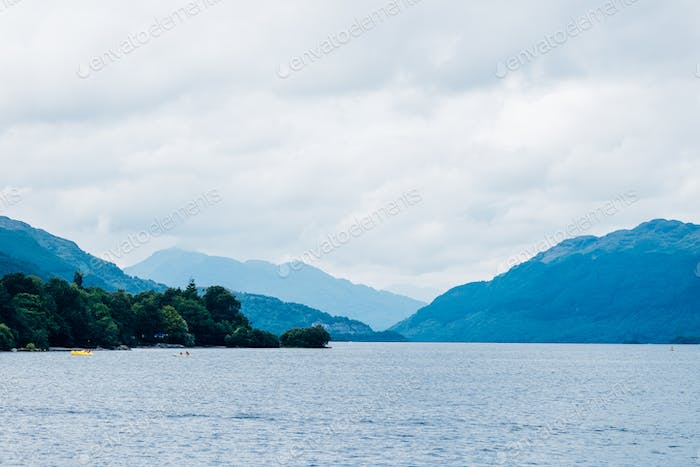 Summer at Loch Lomond near Luss, Scotland, UK