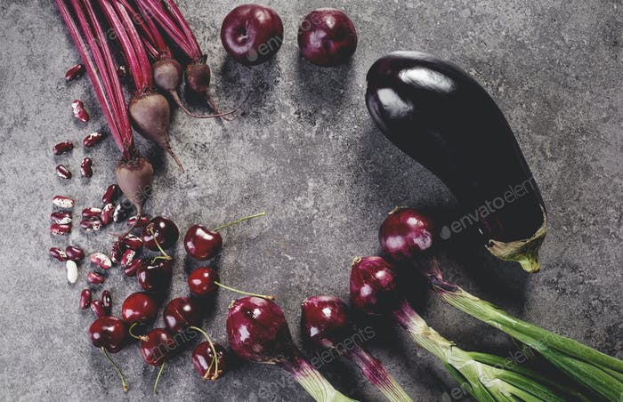 Purple vegetables in the kitchen