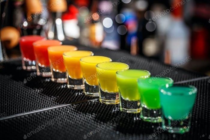 Harte alkoholische Schüsse