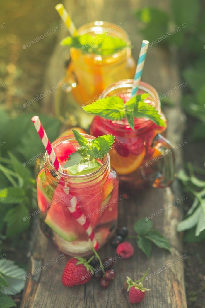 Summer soft drinks