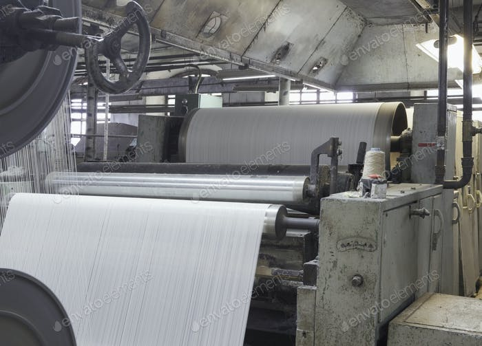 Máquina de fabricación de lona