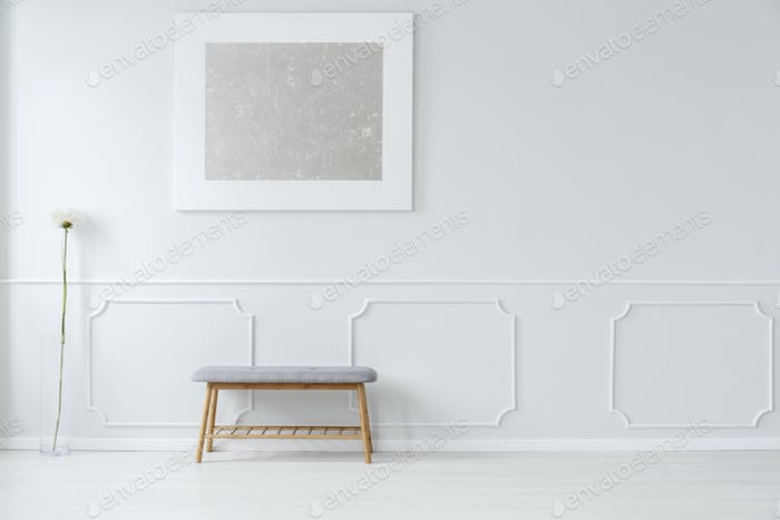 Silver and white apartment interior