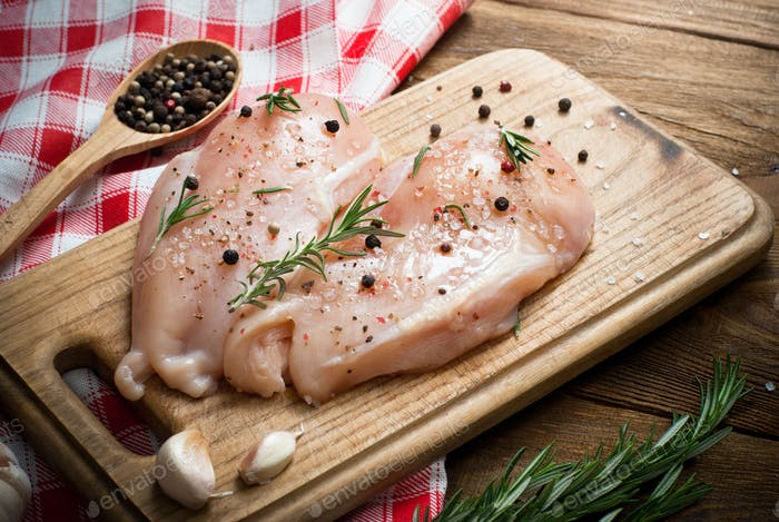 Chicken fillet with spices and rosemary