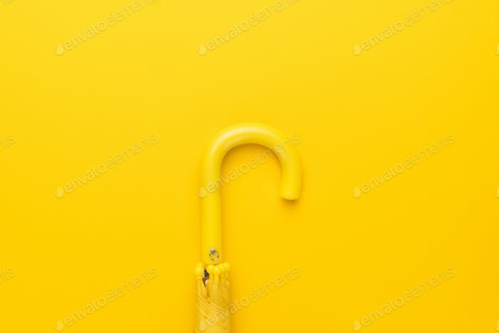 Folded Yellow Umbrella