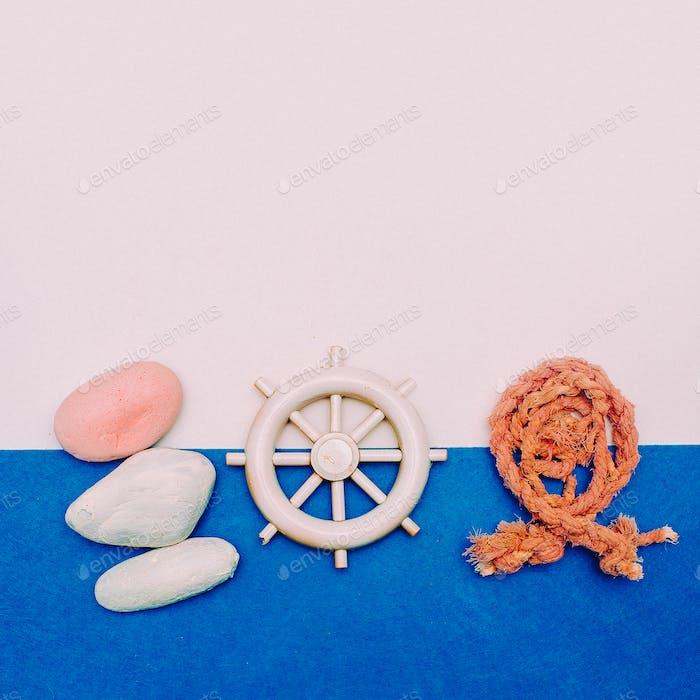 Set Souvenir Fisherman sailor Minimal Art