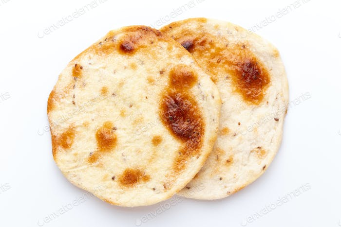 Flatbreads. Arab Bread isolated on white background.