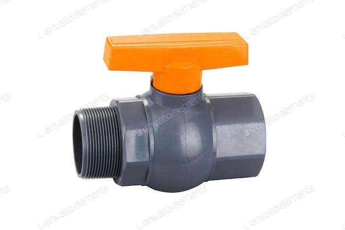 orange plastic faucet