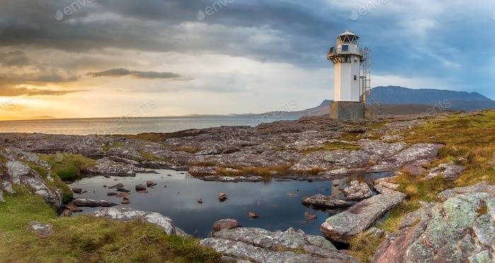 Rhue Lighthouse near Ullapool in Scotland