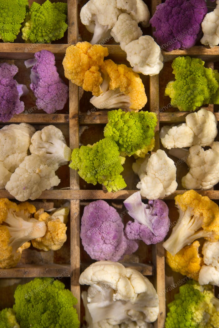 The Colors of cauliflower
