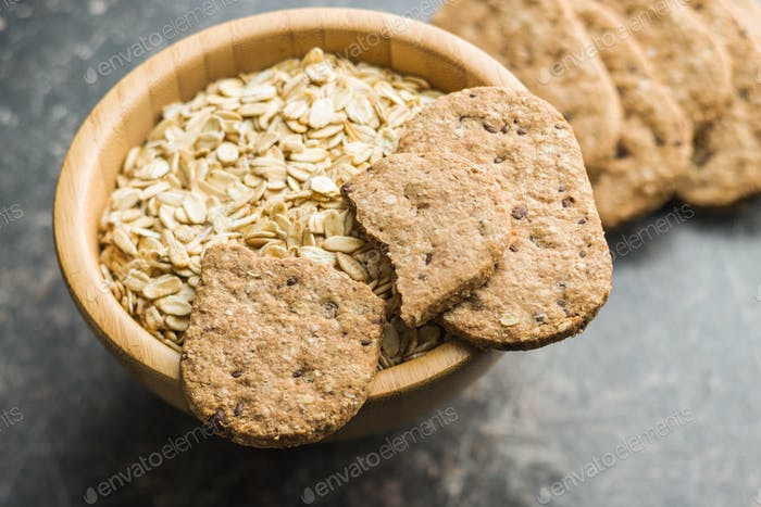 Tasty oatmeal cookies.