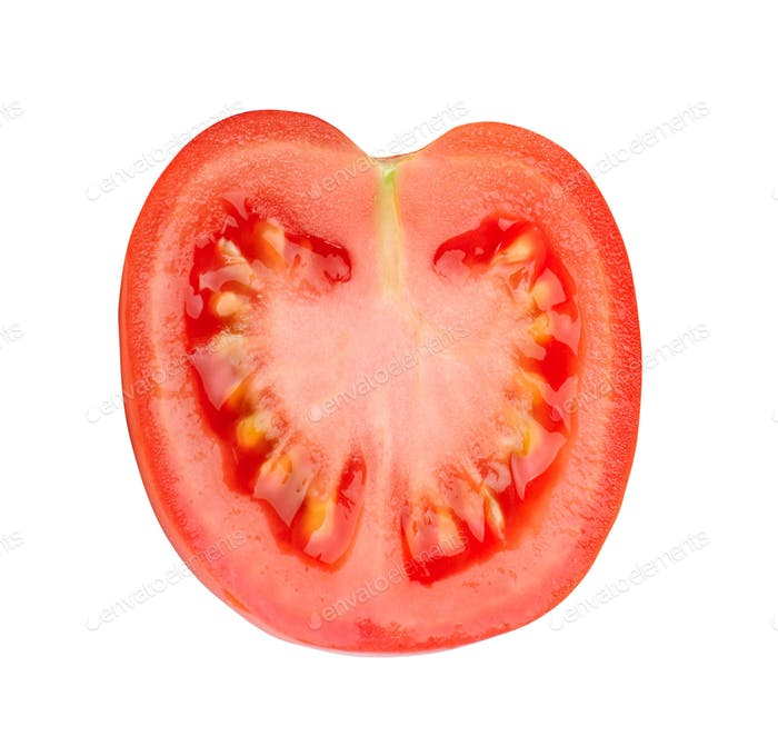 Red tomatoe on a white background