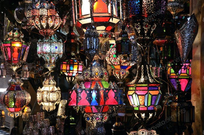 Traditional moroccan lamps