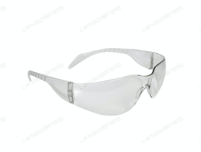 safety glasses isolated