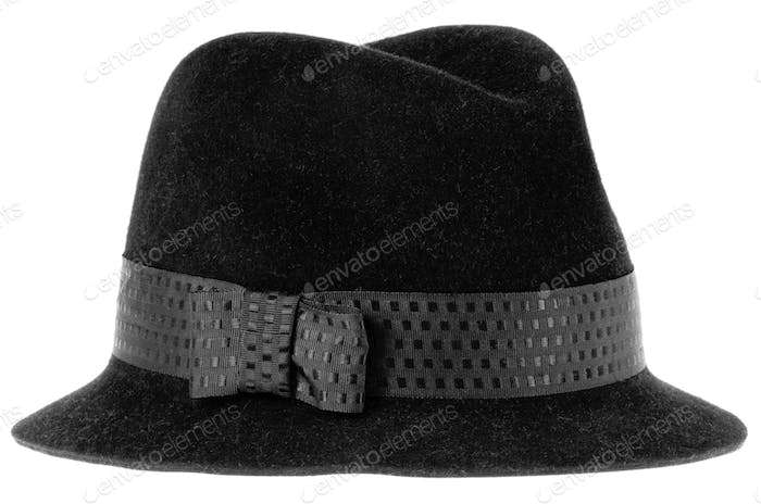 black felt man's hat fedora
