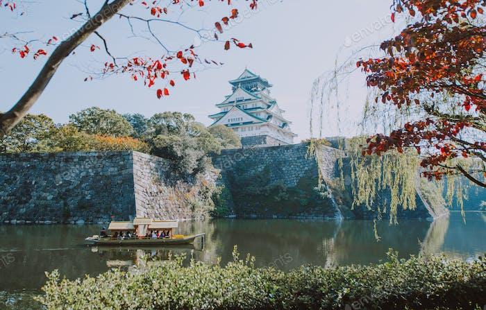 Osaka Kaiserpalast. Die Hauptattraktion in der Stadt