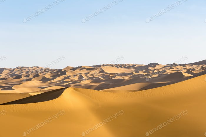 desert landscape, dunes background, clipping path included