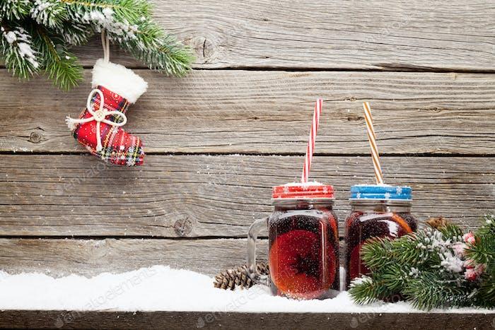Weihnachtskarte mit Glühwein