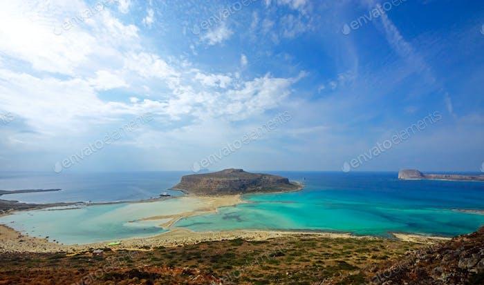 Balos bay on Crete island