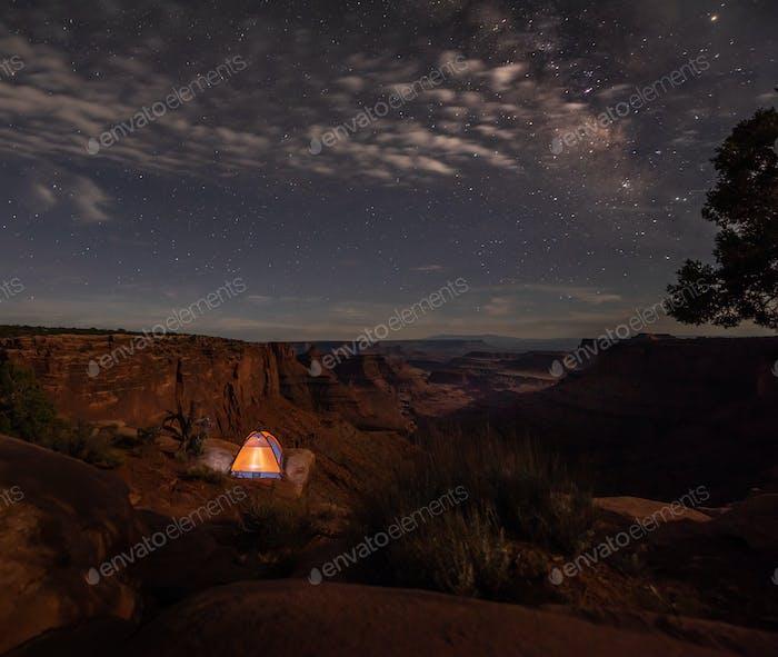 ent under the stars East Fork Shafer Canyon near Dead Horse Poin