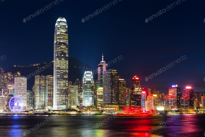 Night scene of Hong Kong
