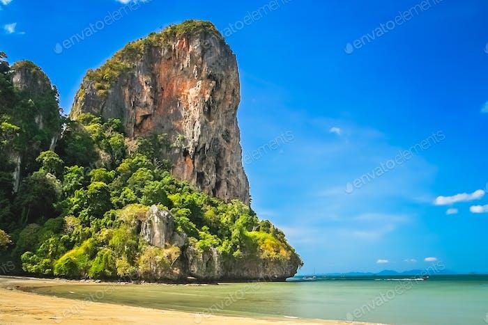 Stunning thai coastal landscape
