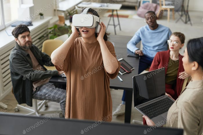 IT Team Working on VR Software