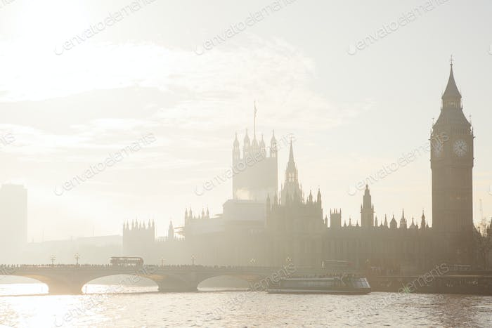 Big Ben from Thames River