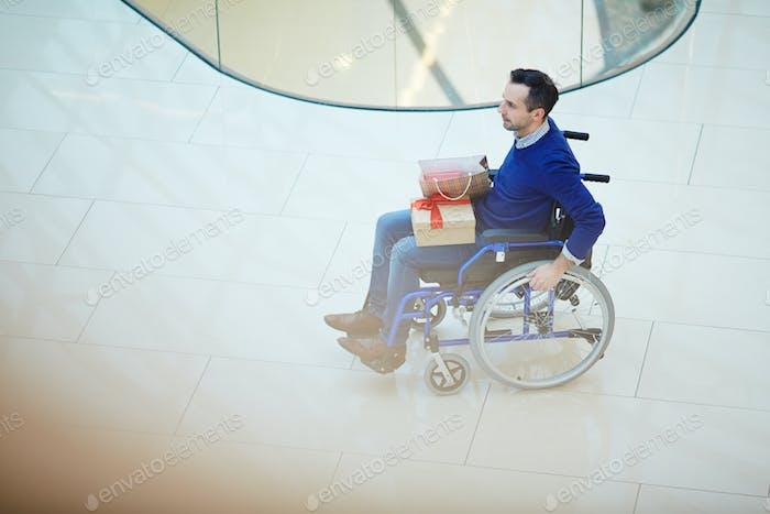 Einkaufen im Rollstuhl