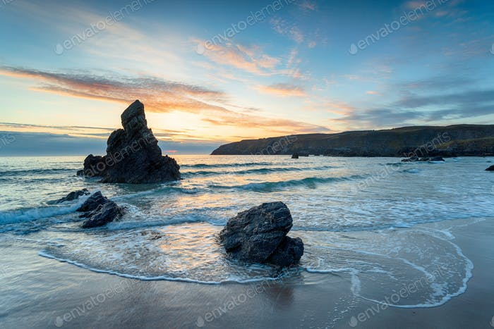 Sunrise at Sango Bay in Scotland