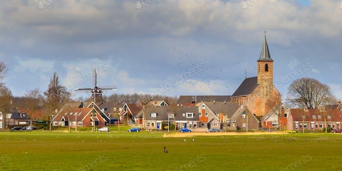 Kleine Dorfszene Niederlande